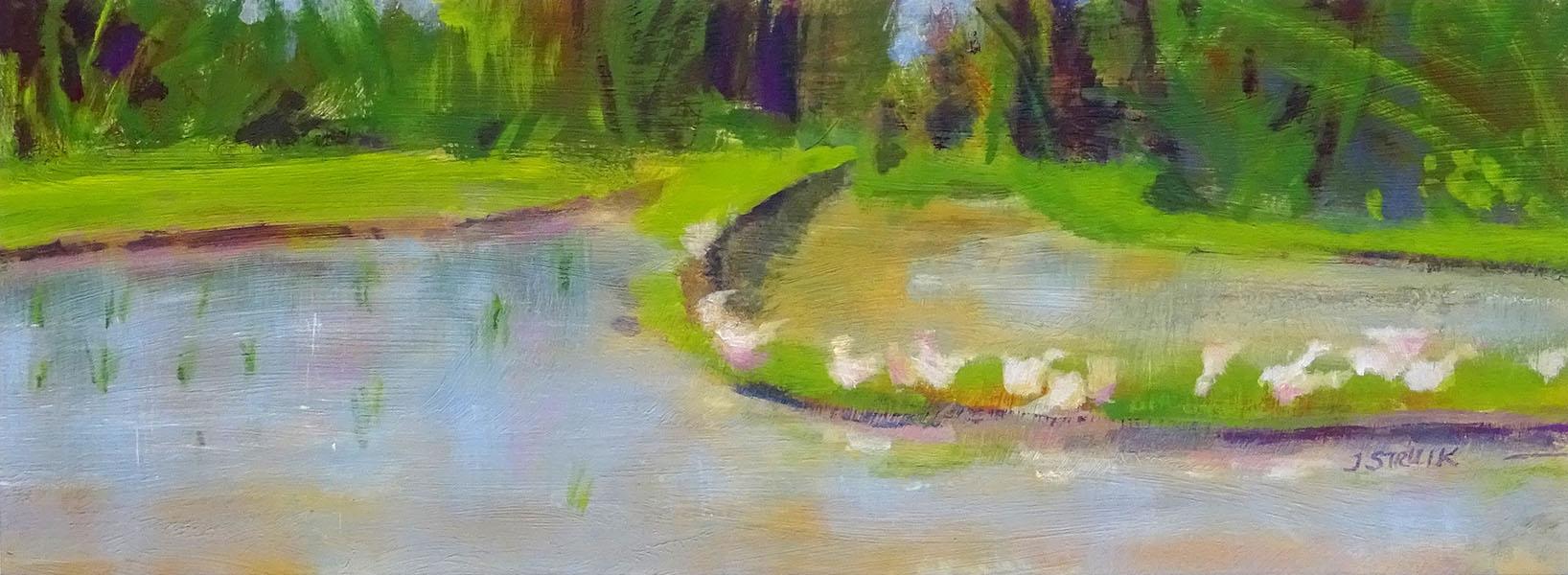 Rijstveld, Bali, 14 x 38, acryl op papier, € 175,-