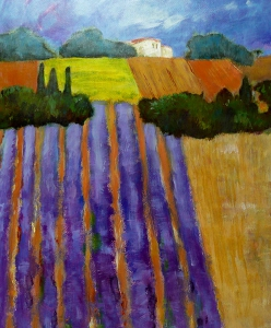 Provence, 49 x 59, acryl op papier, € 315,-