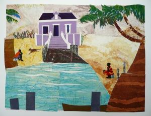 Cariben, 39 x 52, grafiekcollage, € 380,-;