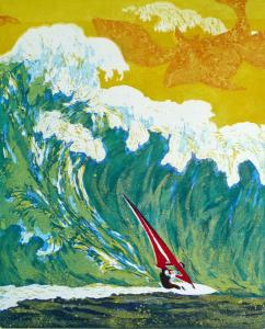 geen zee te hoog II, 40 x 49, ets/inosnede, € 155,-