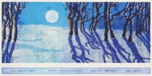 Haiku, ijskoude maan, 23 x 49, ets/linosnede, € 235,-;