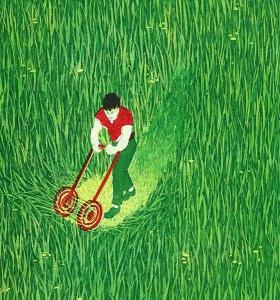 Zo vlug als gras groeit, 32 x 35, ets/linosnede, € 110,-