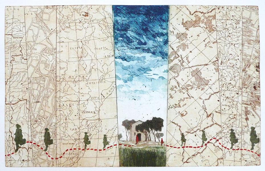 Reizen is verrast worden in beeld en denken; 38 x 57, € 295,-