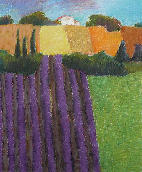 Provence, 37 x 44, pastel, € 325,-