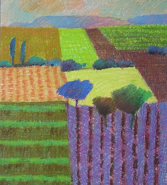 Provence, 39 x 43, pastel, € 285,-