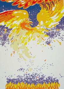 phoenix, 39 x 53, zeefdruk, € 135,-