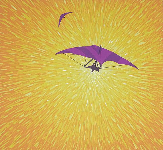 moderne Icarus, 40 x 43, zeefdruk, € 135,-