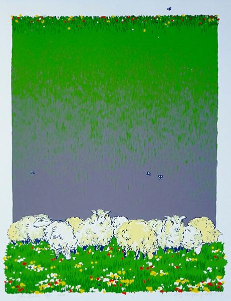 zo vlug als gras groeit, 38 x 49, zeefdruk, € 145,-